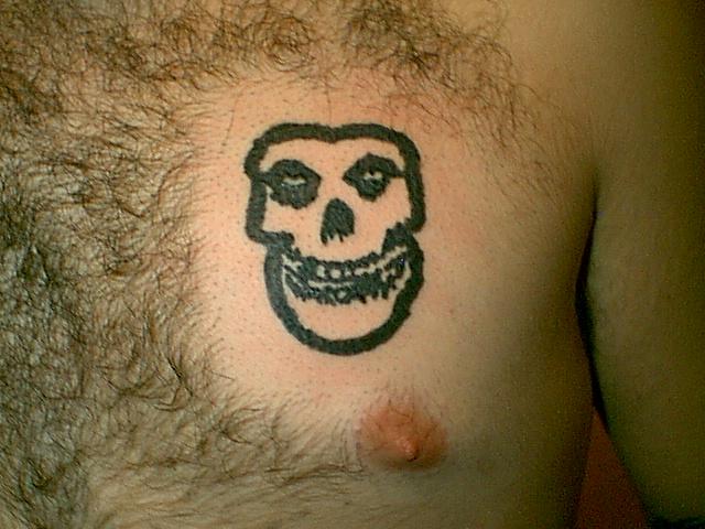 Pin The Misfits Skull Roses Tattoo on Pinterest Misfits Skull Tattoo